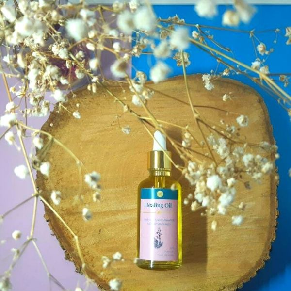 sweet almond helichrysum ginger and lavender essential oil